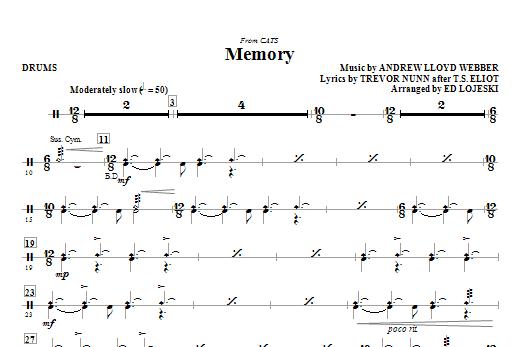 Memory (from Cats) (arr. Ed Lojeski) - Drums (Choir Instrumental Pak)