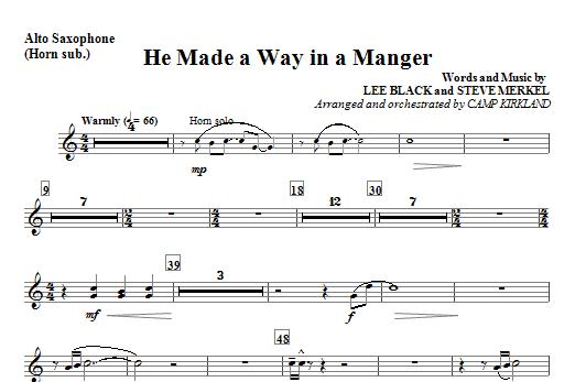 He Made A Way In A Manger - Alto Sax 1,2 Sheet Music