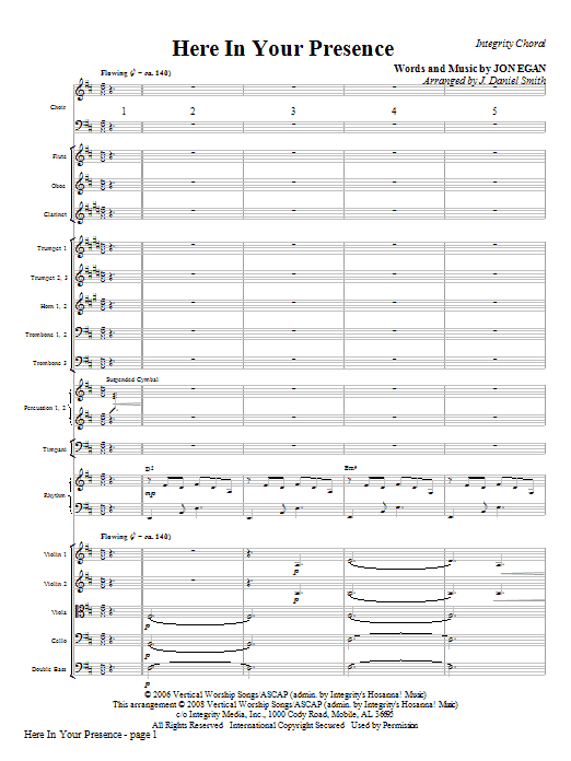 Here In Your Presence - Full Score Sheet Music