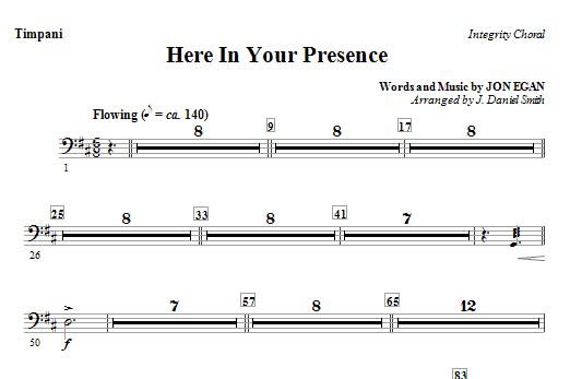 Here In Your Presence - Timpani Sheet Music