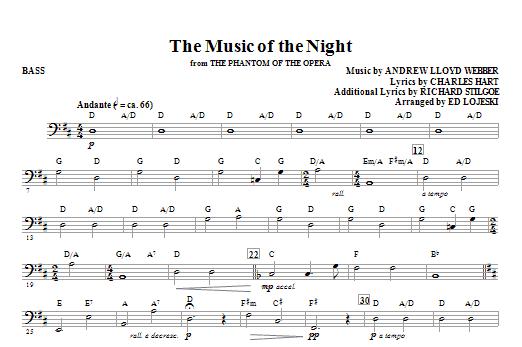 The Music Of The Night (from The Phantom Of The Opera) - Bass (Choir Instrumental Pak)