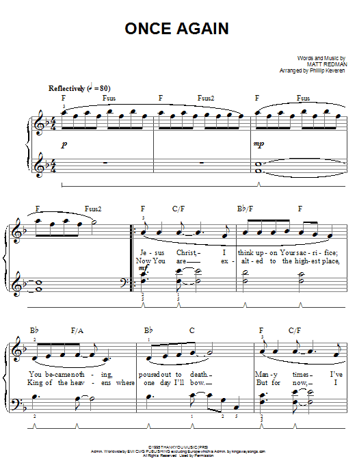 Once Again (Easy Piano)