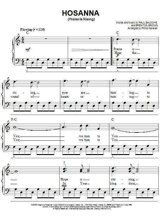 Hosanna guitar chords