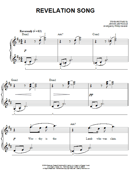 Revelation Song (Easy Piano)