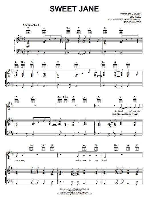 Sweet Jane Sheet Music