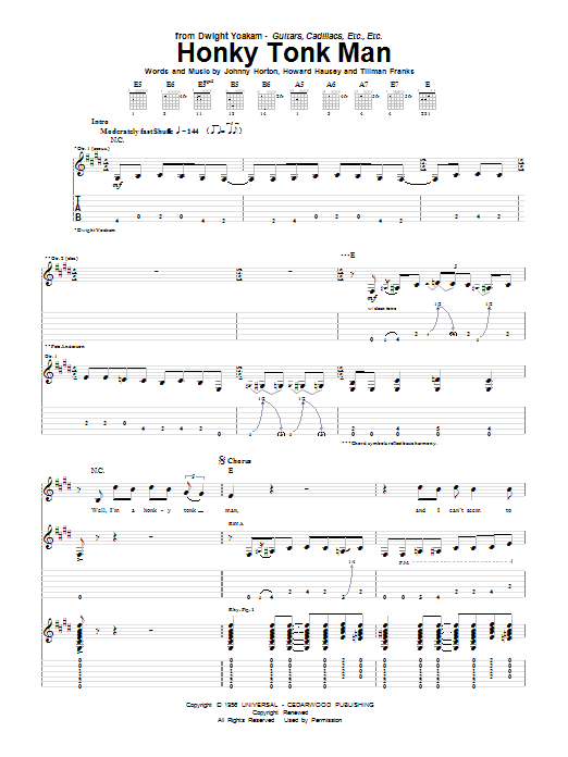 Honky Tonk Man Sheet Music