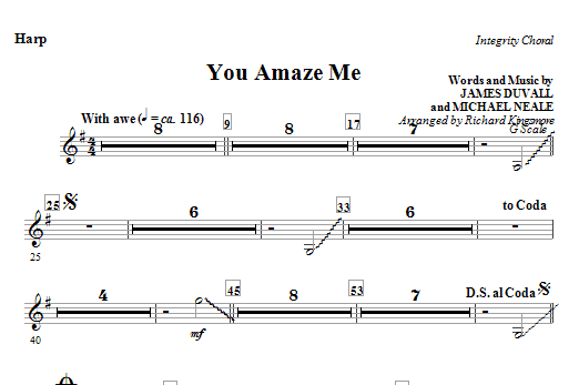 You Amaze Me - Percussion Sheet Music