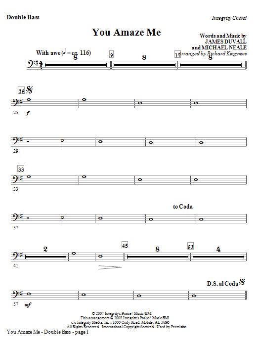 You Amaze Me - Alto Sax (Horn sub) Sheet Music