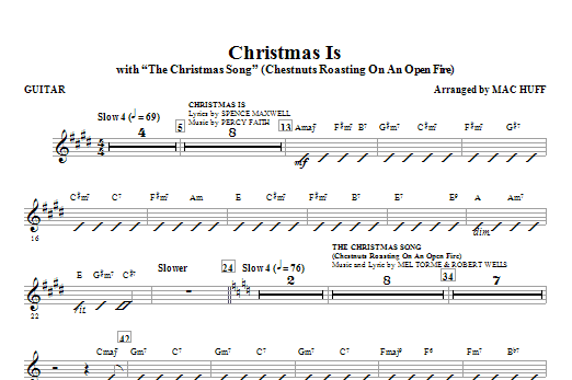 Christmas Is (with The Christmas Song - Chestnuts Roasting On An Open Fire) - Guitar Sheet Music