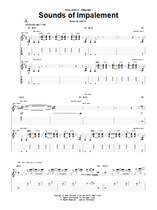 Sounds Of Impalement (Guitar Tab)