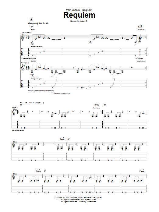 Requiem (Guitar Tab)