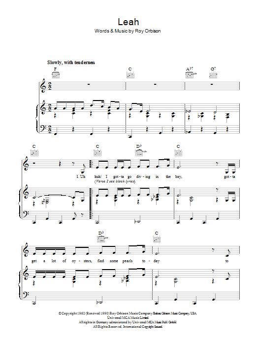 Leah (Piano, Vocal & Guitar)