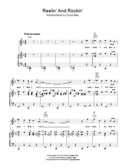 Reelin' And Rockin' (Piano, Vocal & Guitar)