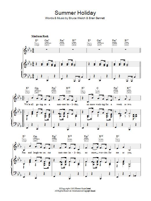 Summer Holiday (Piano, Vocal & Guitar)