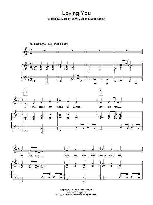 Loving You (Piano, Vocal & Guitar)