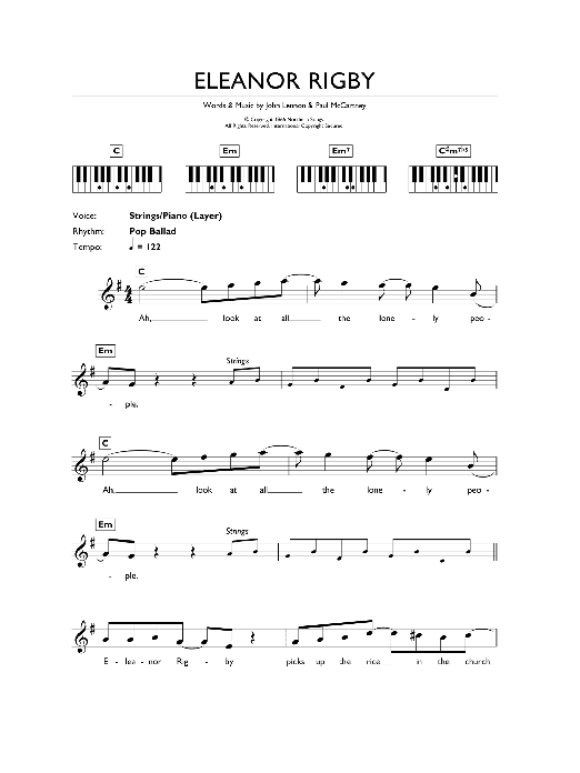 Eleanor Rigby | Sheet Music Direct