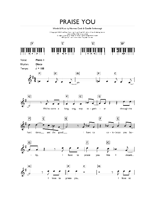 Praise You Sheet Music