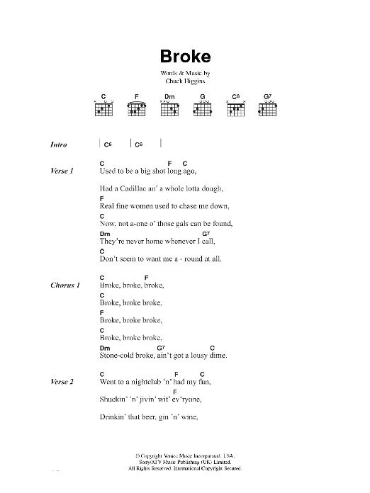 Broke (Piano, Vocal & Guitar)