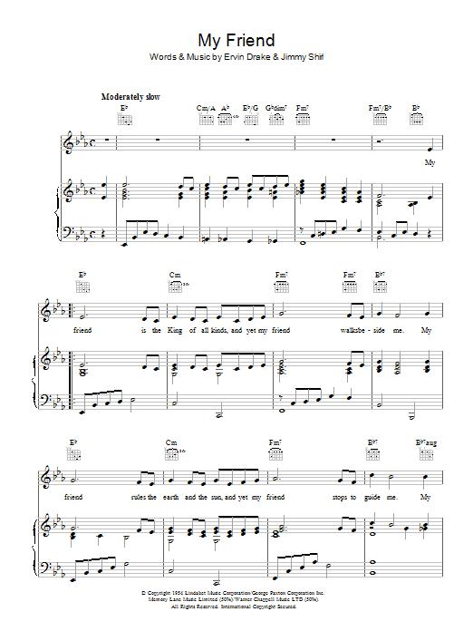 My Friend (Piano, Vocal & Guitar)