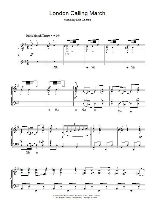 London Calling March (Piano Solo)