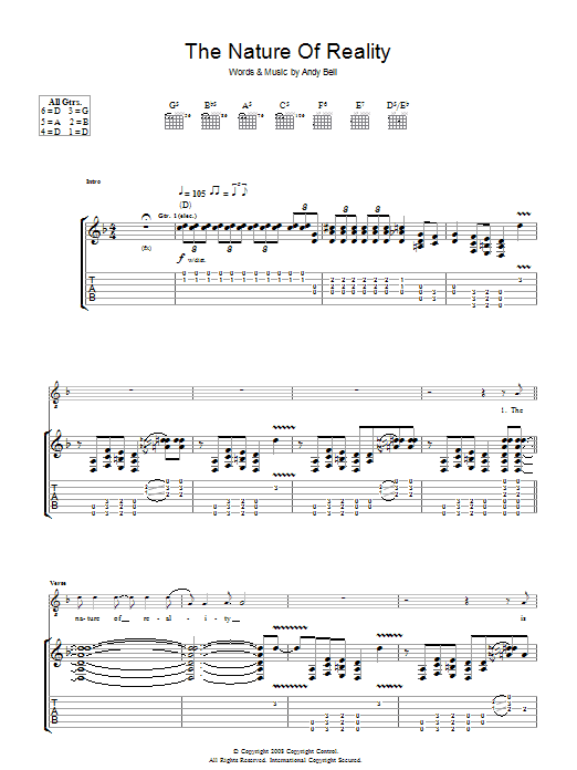 The Nature Of Reality Sheet Music