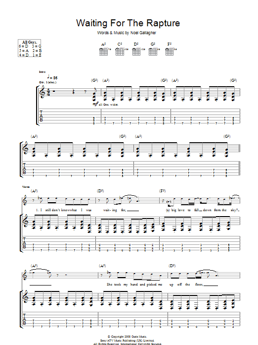 Waiting For The Rapture (Guitar Tab)