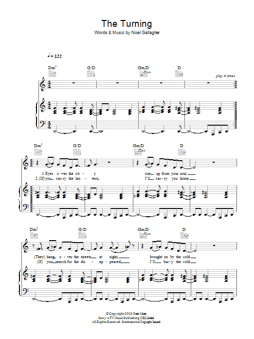 The Turning Sheet Music