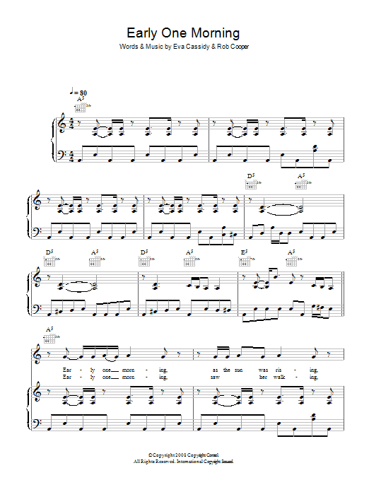 Early One Morning Sheet Music