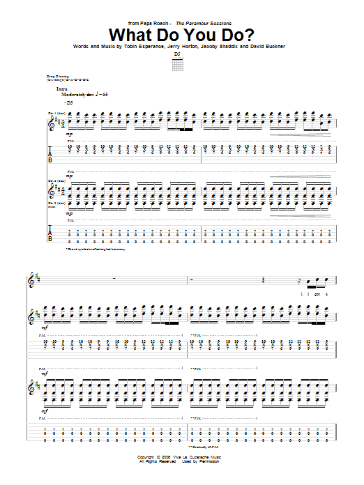 What Do You Do? Sheet Music