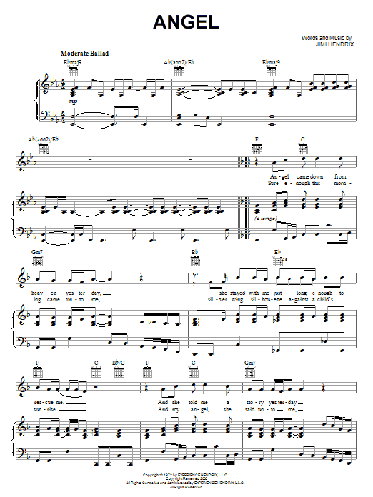 Angel (Piano, Vocal & Guitar (Right-Hand Melody))