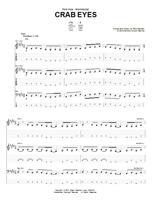 Crab Eyes Sheet Music