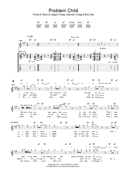 Problem Child (Guitar Tab)