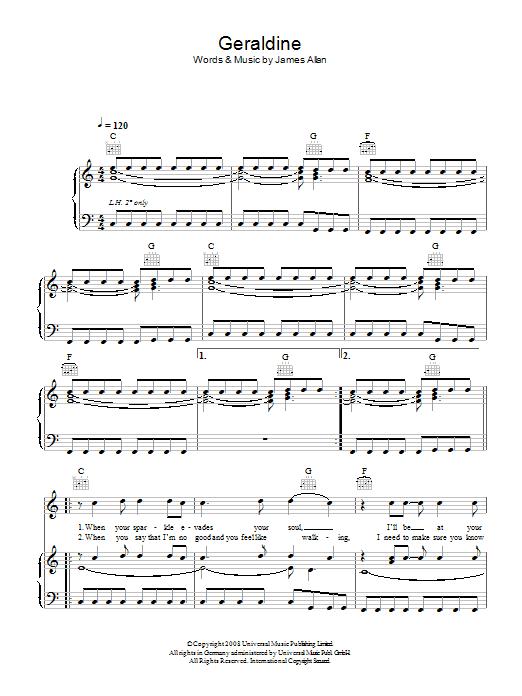 Geraldine (Piano, Vocal & Guitar)