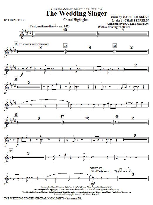 The Wedding Singer (Choral Highlights) - Trumpet 2 (Choir Instrumental Pak)