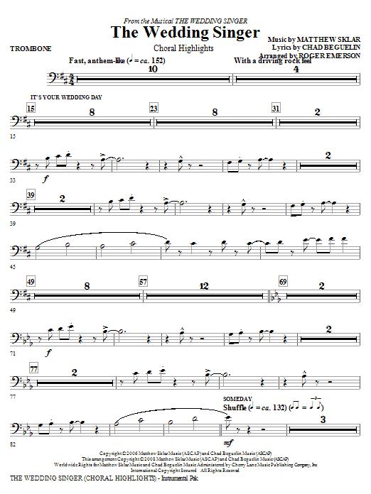 The Wedding Singer (Choral Highlights) - Trombone (Choir Instrumental Pak)