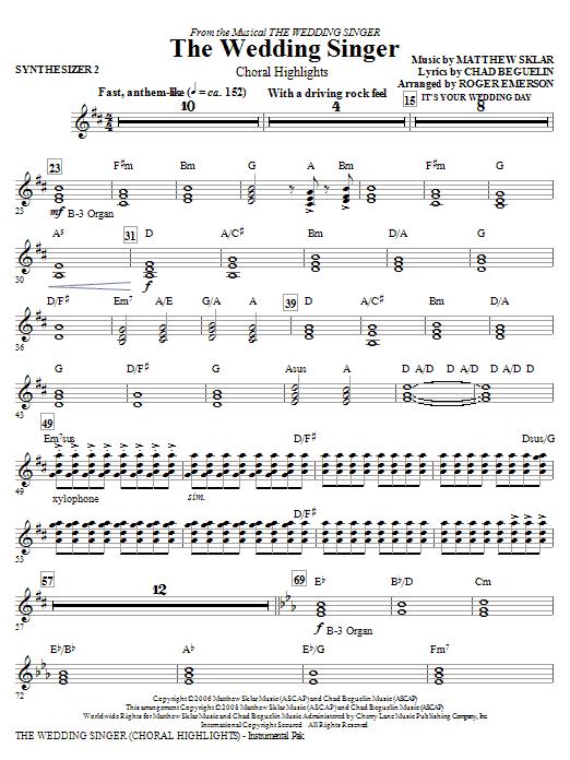 The Wedding Singer (Choral Highlights) - Synthesizer II (Choir Instrumental Pak)