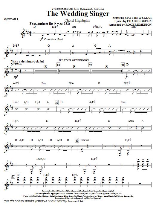 The Wedding Singer (Choral Highlights) - Guitar 1 (Choir Instrumental Pak)