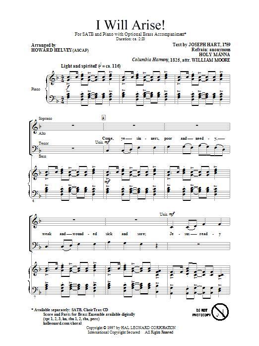 I Will Arise! (SATB Choir)