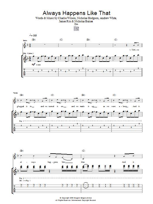 Always Happens Like That (Guitar Tab)