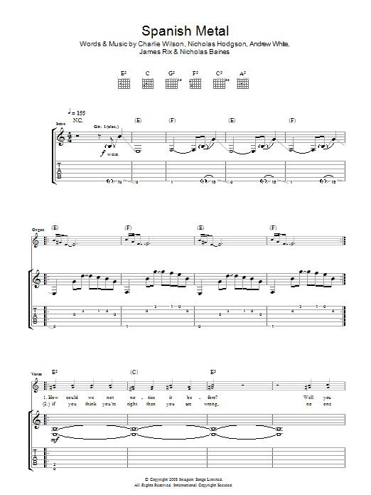 Spanish Metal (Guitar Tab)