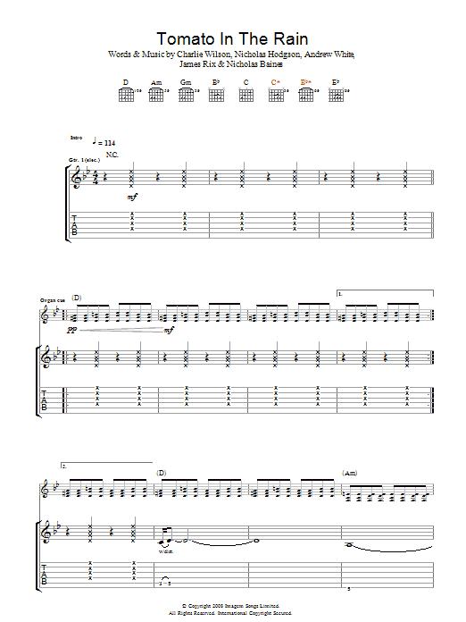 Tomato In The Rain (Guitar Tab)