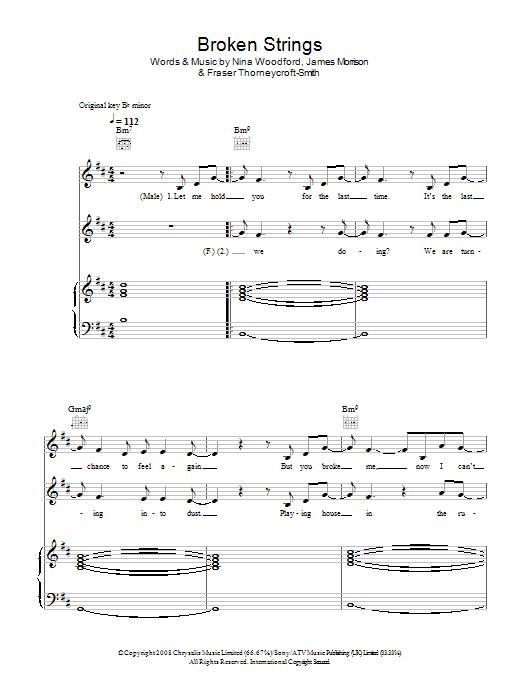 Broken strings guitar chords