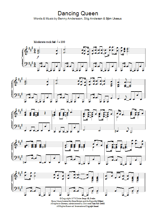 Dancing Queen (Piano Solo)