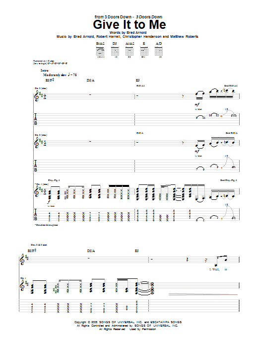 Give It To Me (Guitar Tab)