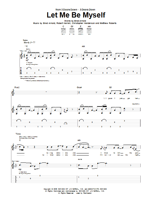 Let Me Be Myself Sheet Music