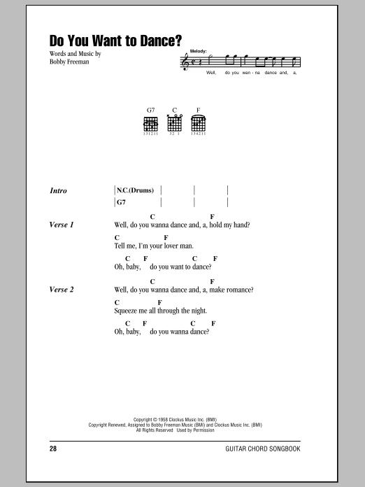 Do You Want To Dance? Sheet Music