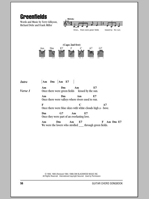 Greenfields Sheet Music