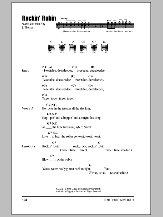 Rockin' Robin Sheet Music