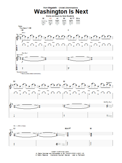 Washington Is Next (Guitar Tab)