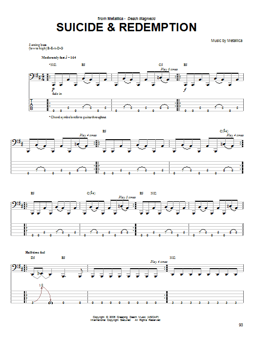 Suicide & Redemption Sheet Music